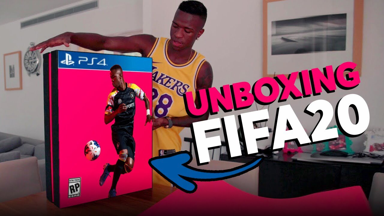 JOGUEI O FIFA 20 EXCLUSIVO - UNBOXING E GAMEPLAY