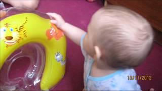 Baby baden  Flipper baby swimming mit Hals Schwimm Ring