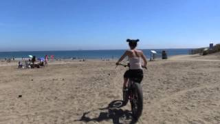 Electric fat tire bikes and beach