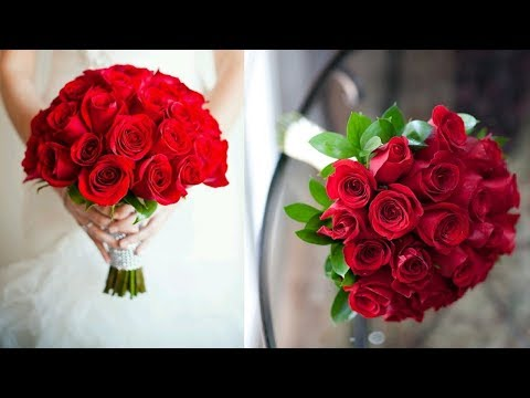 How To Make DIY Bridal Bouquet On Budget | DIY Red Rose Wedding Bouquet | With Rhinestone Border