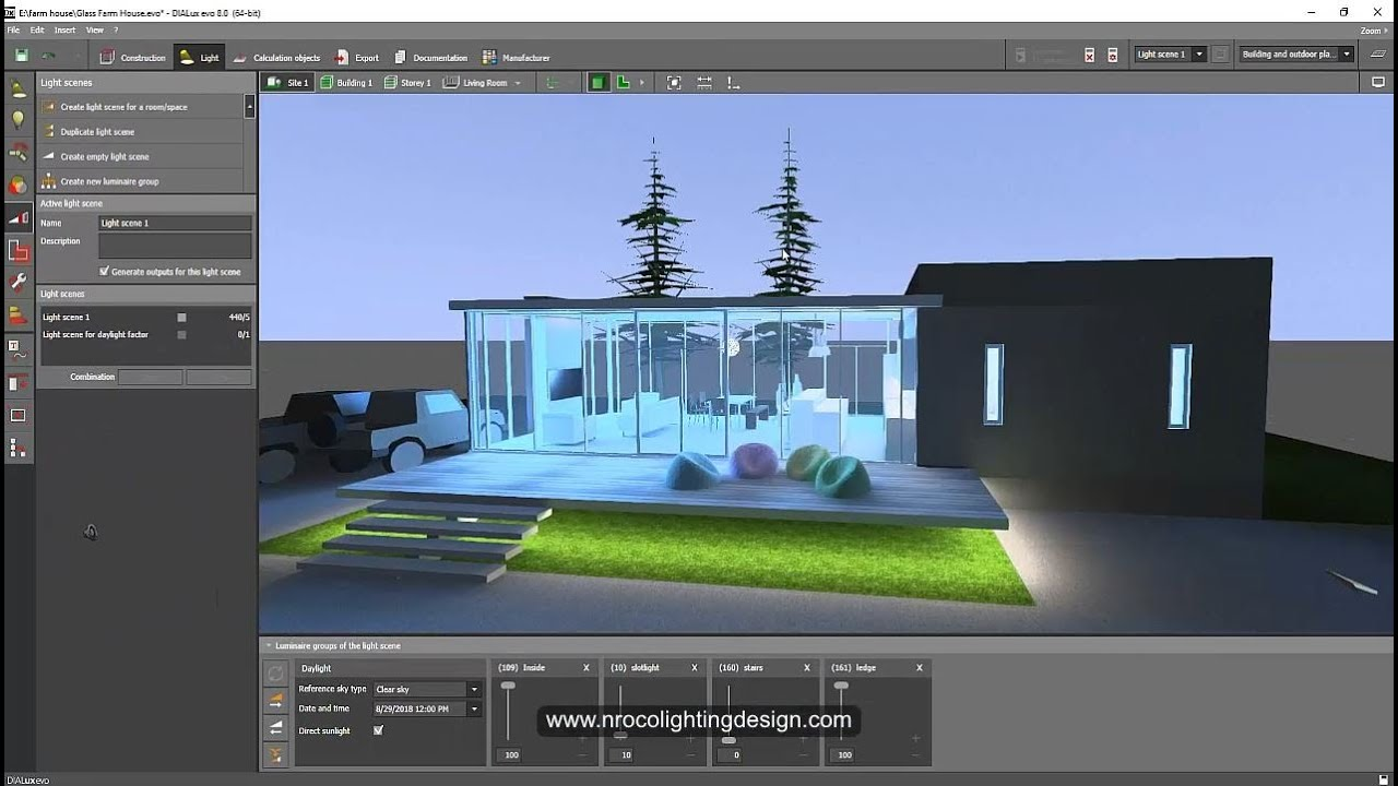 Daylighting Calculation In Dialux Evo Youtube