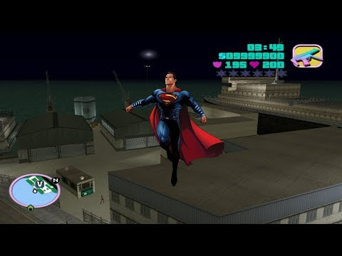 How To Get Superman Powers In GTA Vice City |Superman Cheat For GTA Vice City| Superman Skin