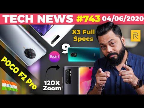 POCO F2 Pro Made In India?,realme X3 Series Full Specs,Mi CC10 120X Zoom,Redmi 9 Launch Date-#TTN743