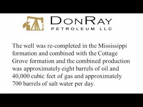 DonRay Petroleum, LLC Announces Completion of the DRP Grace #33 Well