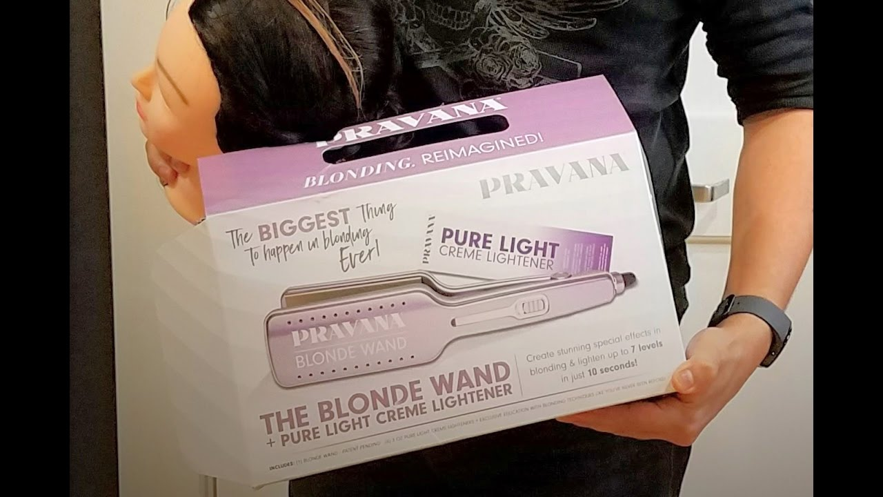 How To Use Pravana Blonde Wand And Pure Light Creme Lightener