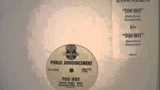 Public Announcement [PA] - Too Hot [Instrumental]