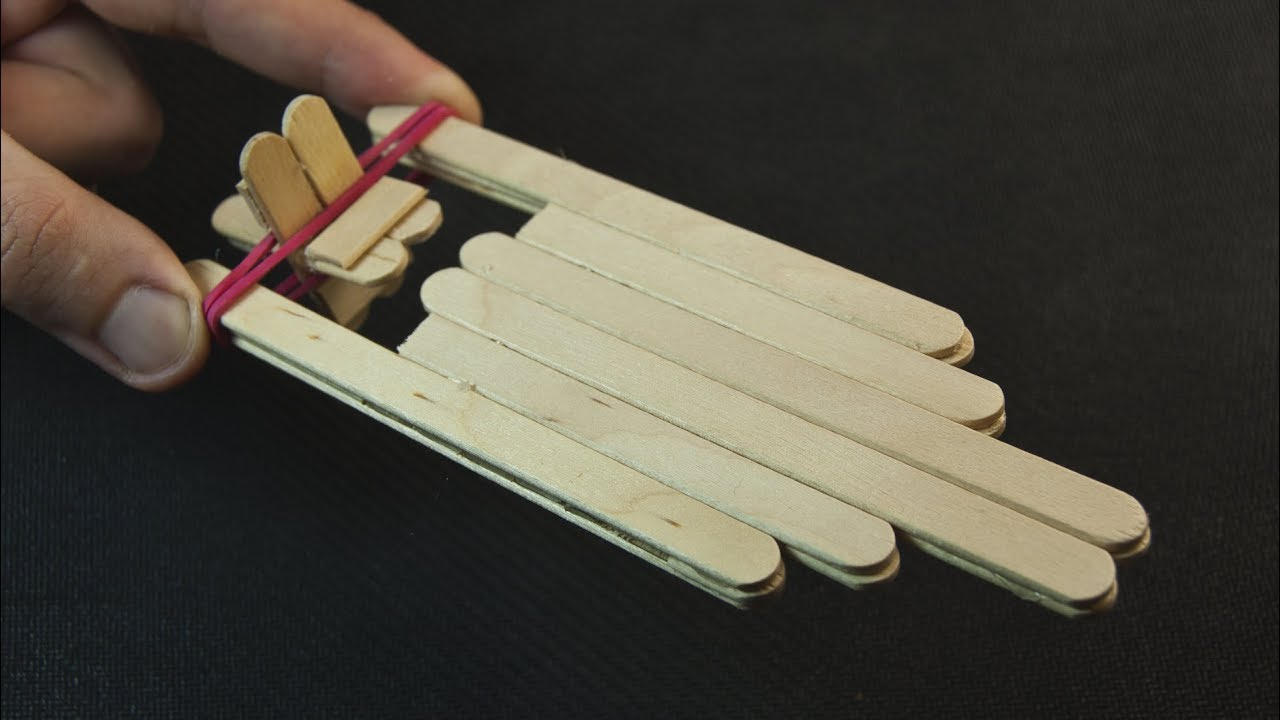 How To Make A Wooden Toy Boat Using Popsicle Sticks Youtube