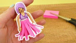 DIY Playmobil Outfit für den Strand | Cooler Sommerrock aus Papier für deine Playmobil Puppe