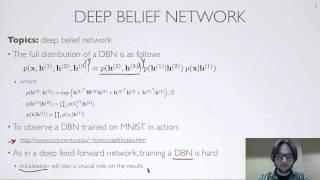 Neural networks [7.7] : Deep learning - deep belief network