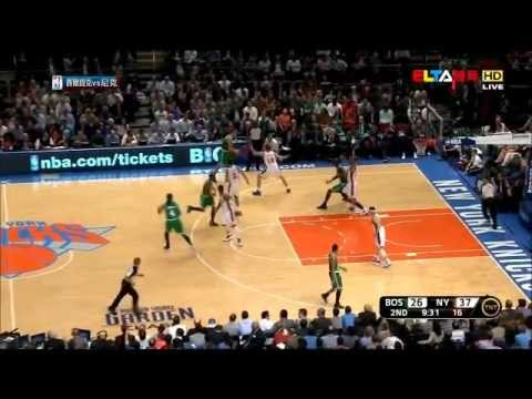 J.R. Smith & Steve Novak  3-point contest  vs Boston Celtics (17.04.12)