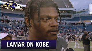 Lamar Jackson Offers Condolences After Kobe Bryant's Passing | Baltimore Ravens