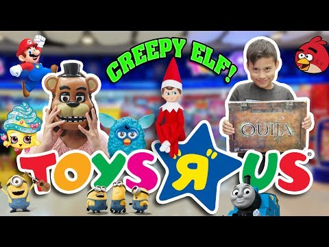 "CREEPY ELF KEEPS FOLLOWING US  Toys ""R"" Us Shopping Spree"