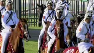 مراسم استقبال خادم الحرمين الشريفين في دولة قطر