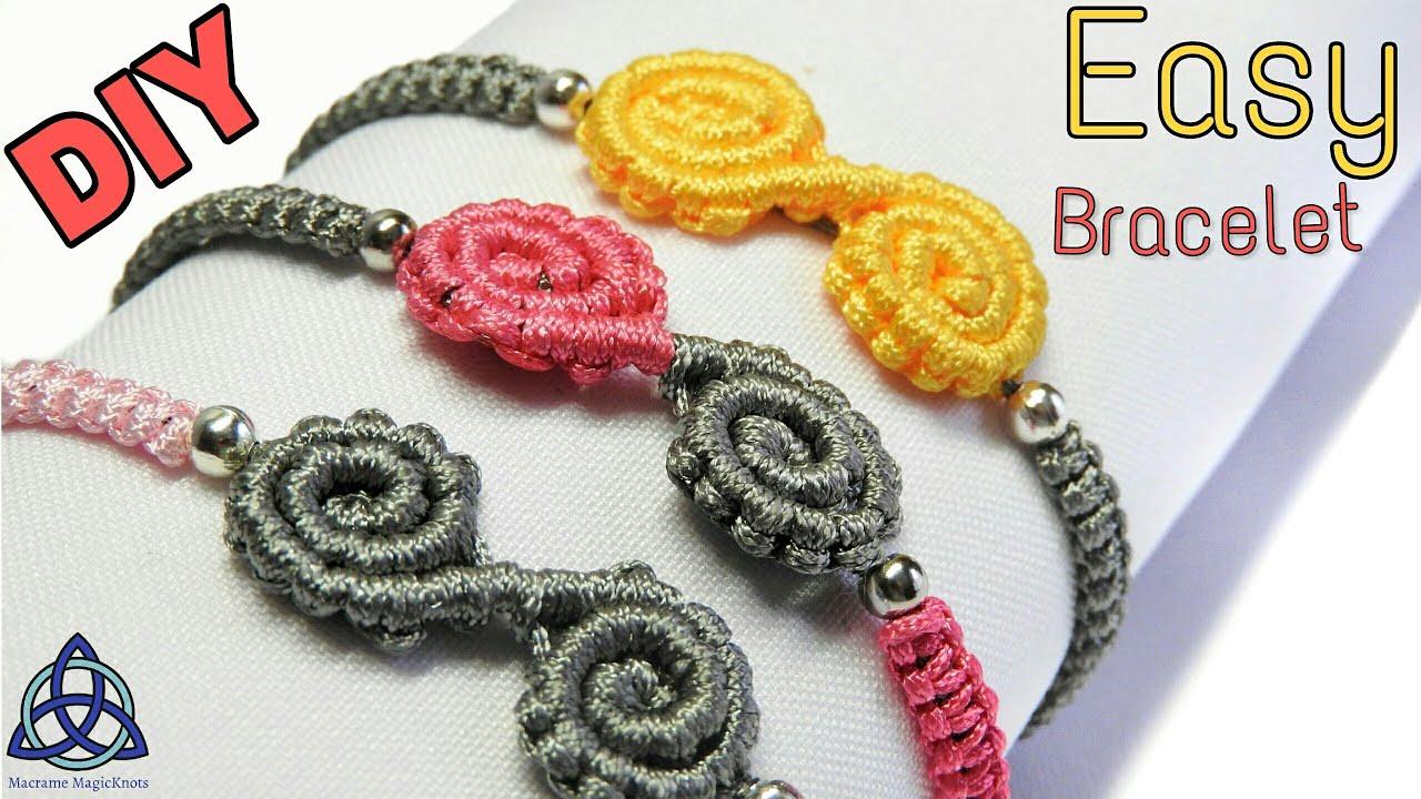 Easy Friendship Macrame Bracelet Tutorial  Spiral Bracelet  Diya  DIY e9af19fd680