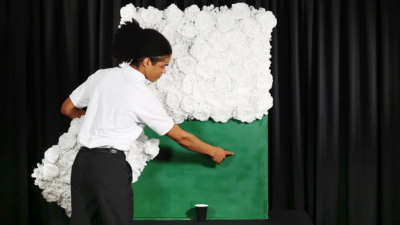 How To Set Up A Portable Flower Wall Backdrop Youtube