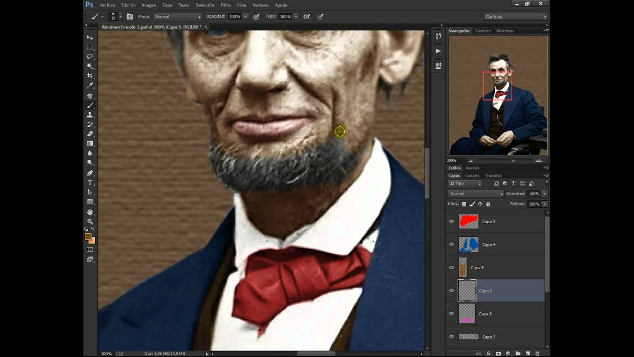 Colorear y Restaurar Abraham Lincoln Photoshop - YouTube
