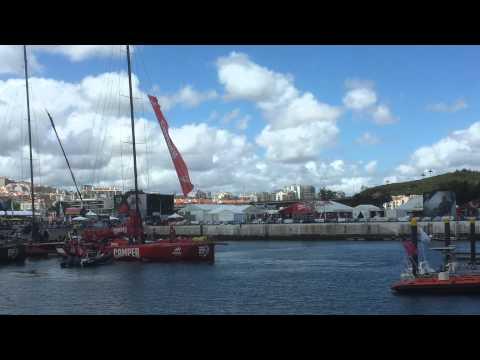 Camper team docking in Lisbon