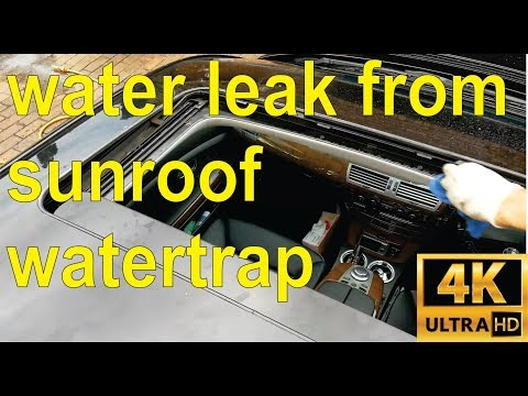 How to fix a sunroof water leak  in your BMW (full details) – step by step