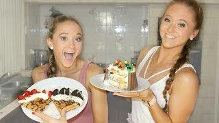 Waffle Challenge!   The Rybka Twins