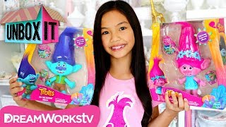 Hug Time Harmony Poppy and Branch Dolls with Jessalyn Grace | DreamWorks' Trolls Presents UNBOX IT