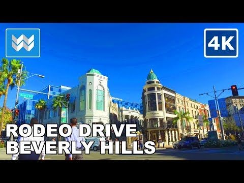 Walking tour around Rodeo Drive in Beverly Hills, California - 4K