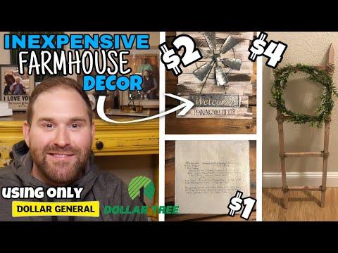 Dollar Tree & Dollar General DIY Farmhouse Decor