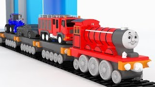 Learn Color for kids with Thomas Train Educational Video Cars Toys for Kids Nursery Rhymes Songs