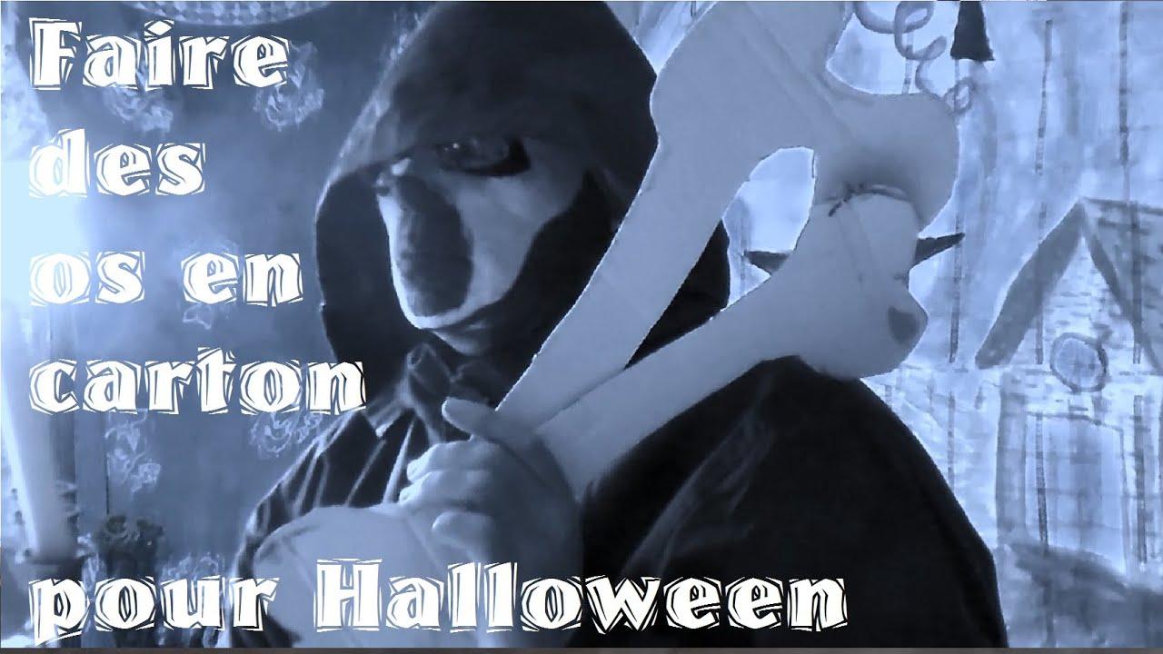 Bricolage halloween fabriquer des os en carton avec les - Fabriquer araignee pour halloween ...