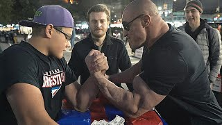 Can You Beat This SCHOOLBOY at ARM WRESTLING ? 3.0