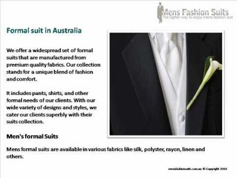 Formal Suit: Best Australian Of Men's And Formal Suits In Sydney, Brisbane, Perth And Melbourne