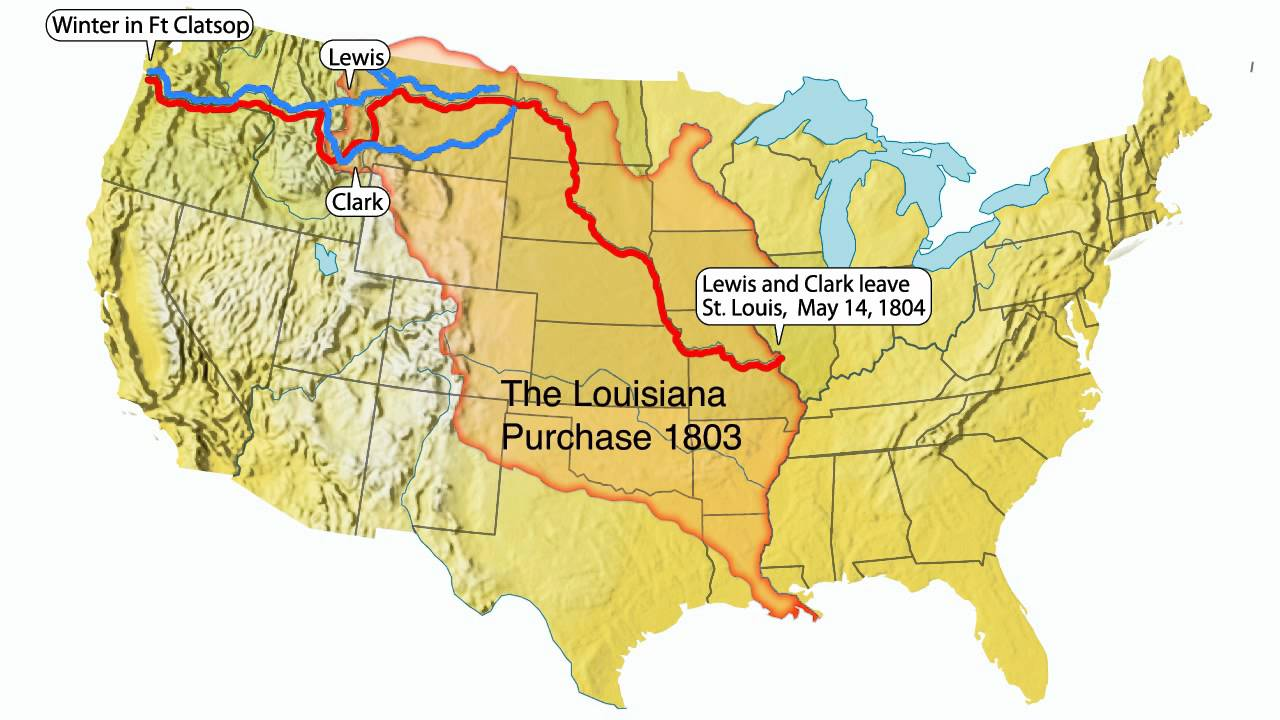 lewis and clark animated map youtube