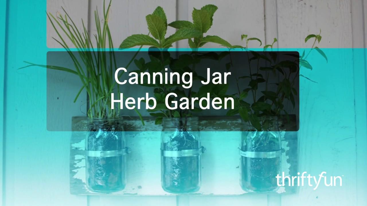 Wall Herb Garden in Jars - YouTube