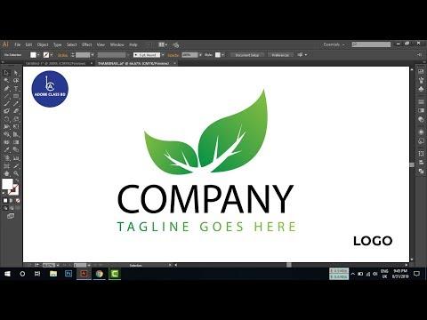 How to design a nature logo in adobe illustrator - logo tutorial thumbnail