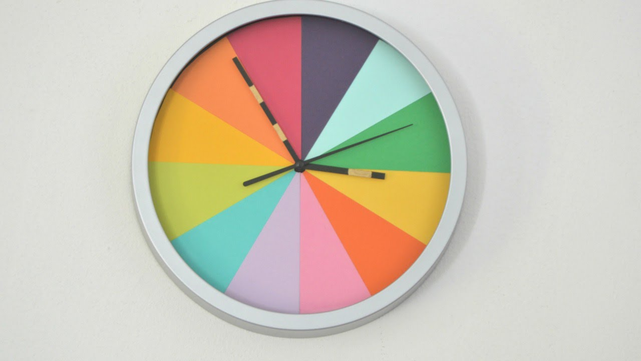 Turn a Boring Clock into a Colorful Clock