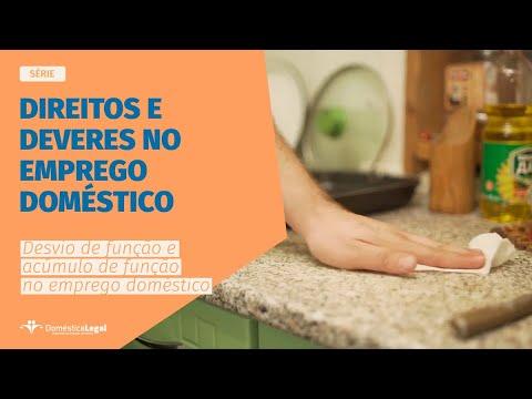 Desvio e acúmulo de funções no trabalho doméstico  WEB-SÉRIE  Direitos e deveres