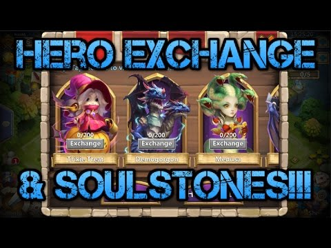 Castle Clash: Hero Exchange and SoulStone Information!!! & Pet Update Review!