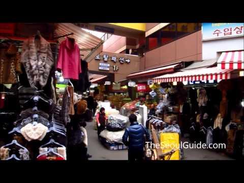 Walking through the bustling Namdaemun Market in Seoul, South Korea