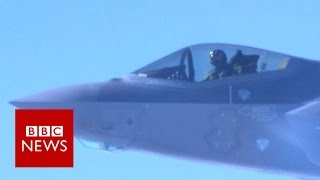 Refuelling a 0m, American F 35A fighter jet at 350mph   BBC News