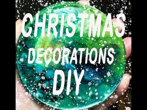 How to make Christmas Decorations at home with epoxy resin !