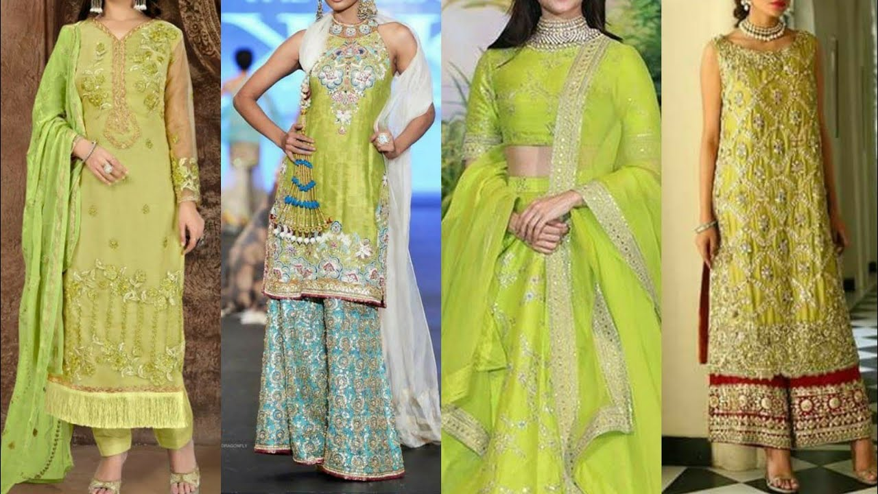 Beautiful Dresses In Lime Green Colour Different Colour Combinations With Lime Green Youtube