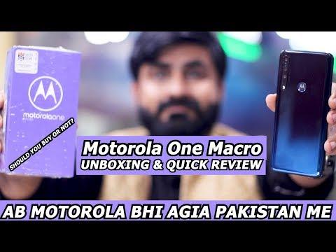 MOTOROLA ONE MACRO UNBOXING & QIUCK REVIEW (URDU/HINDI)
