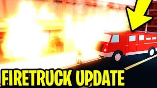 NEW FIRETRUCK UPDATE! JAILBREAK CITY IS ON FIRE!! [FULL GUIDE] | Roblox Jailbreak New Update
