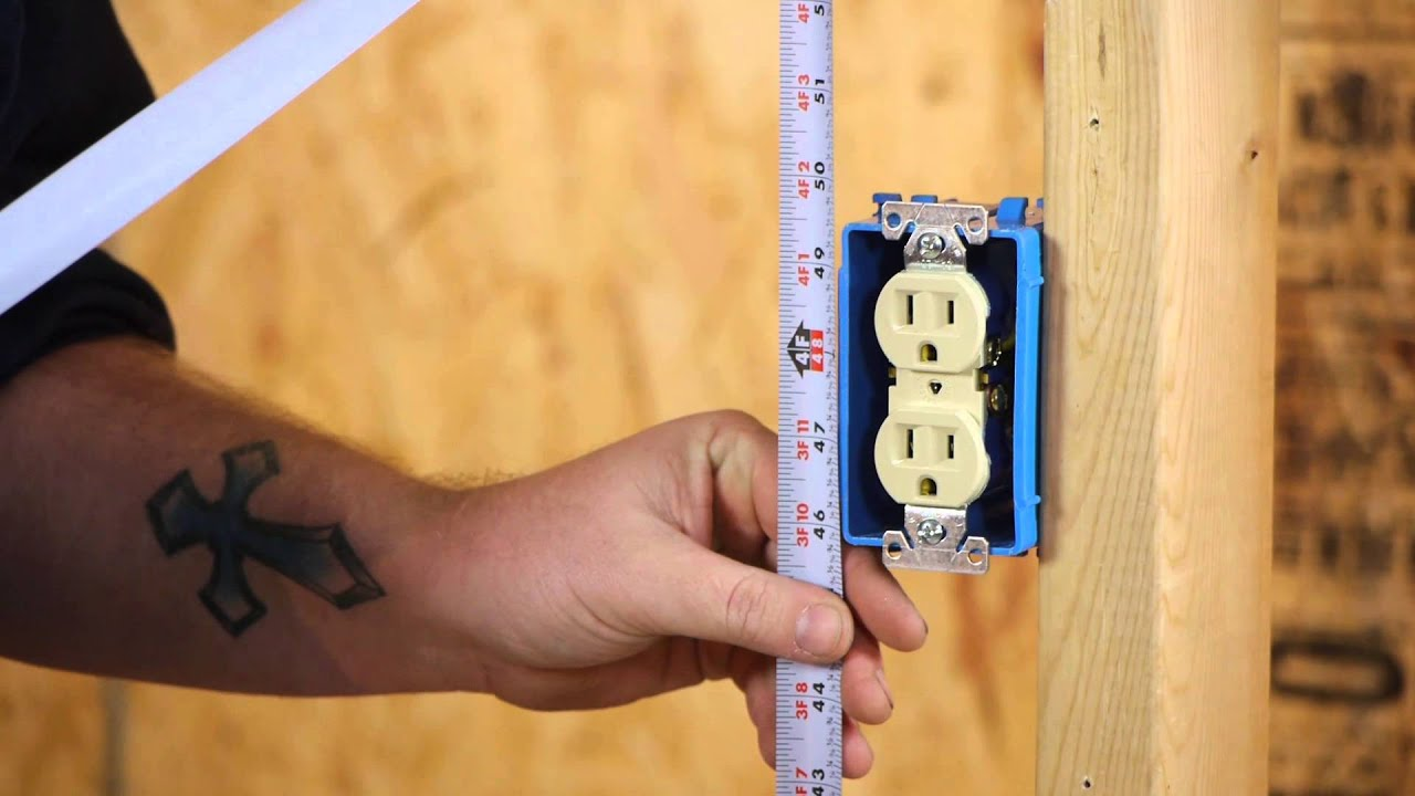 Wiring Diagram Receptacle To Switch Light Alpine Ktp 445u Power Pack The Minimum Height Of A Wall Outlet : Diy Electrical Work - Youtube