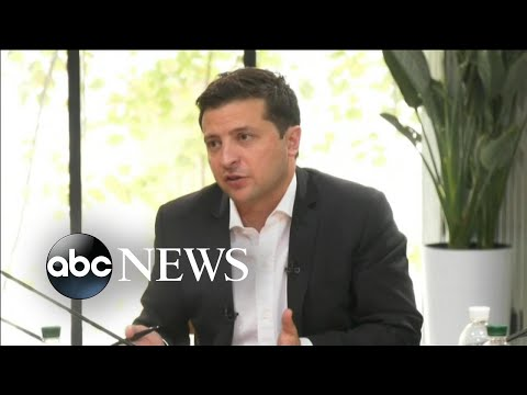Ukrainian president speaks out amid impeachment inquiry l ABC News