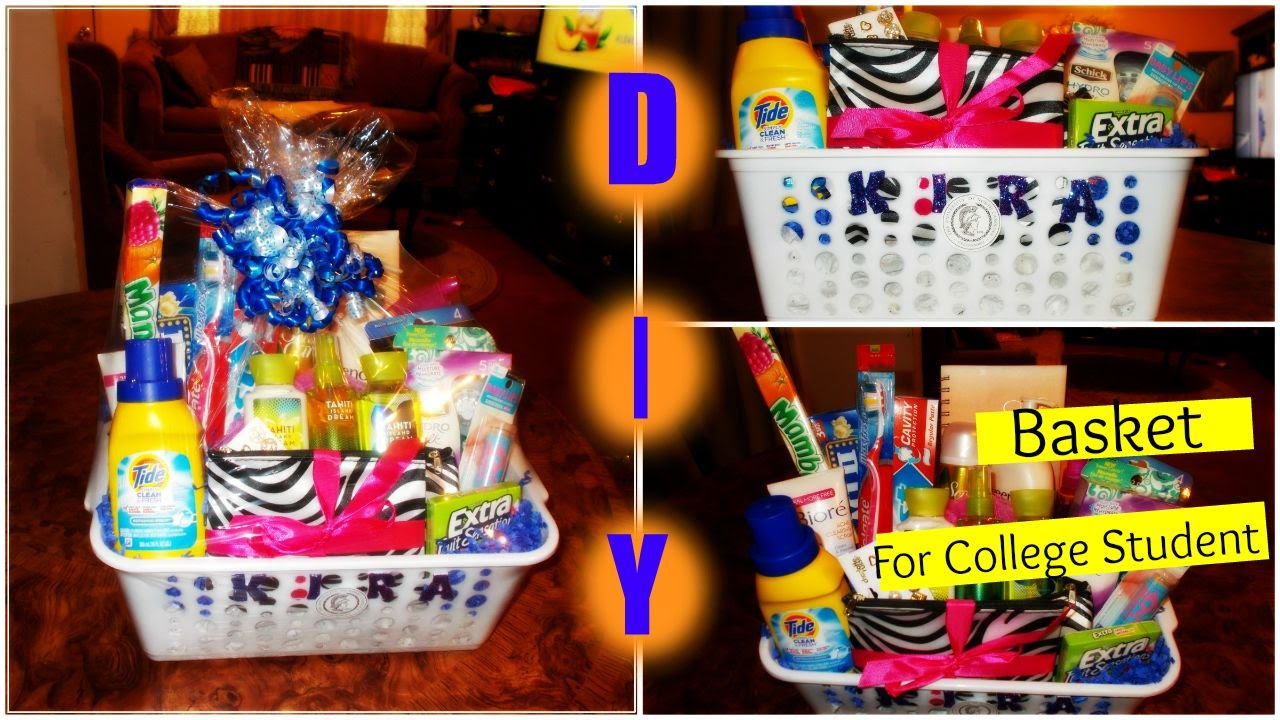 Diy gift basket for a college student youtube negle Gallery