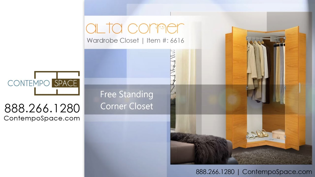Perfect Alta Corner Wardrobe Closet   Free Standing Corner Closet | Item #: 6616    YouTube