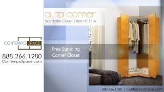 Alta Corner Wardrobe Closet - Free Standing Corner Closet | Item #: 6616