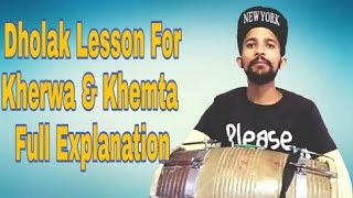 How To Play Dholak Lesson 1 Recreated-Kherwa&Khemta-Learn Dholak Online