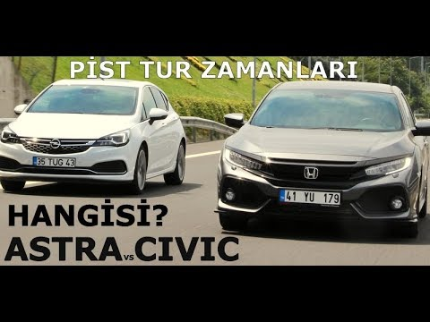 Opel Astra vs Honda Civic | Pist tur...
