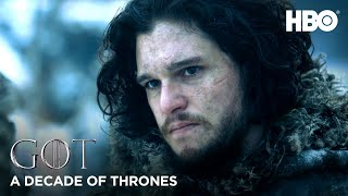 A Decade of Game of Thrones | Kit Harington on Jon Snow (HBO)